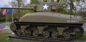 Image of Sherman Tank.