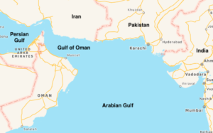 Map of Gulf of Oman