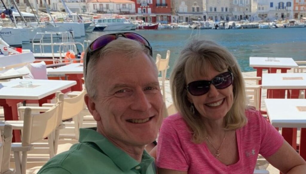 Photo of Dave and Sharon in Hydra Island, Greece