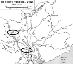 III Corps Tactical Zone around Saigon, South Vietnam (Source: U.S. Army)