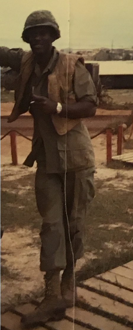 Adam Joseph in uniform in Vietnam