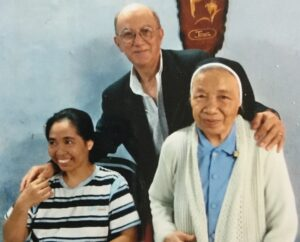 Image of Billy Terrell with Sister Michelle and Ahn Doe at Mang Lang Orphanage in 2013