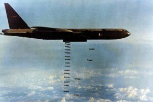 B-52D dropping bombs over Vietnam